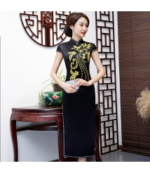 qipao chinese dress  bespoke dress maker  formal mother of bride dress vestidos ever pretty para fiesta