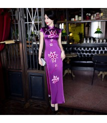 embroidery qipao  embroidery chinese dress bespoke  cheongsam