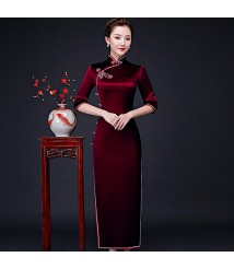 wedding guest dress mother of bride dress burgandy dress