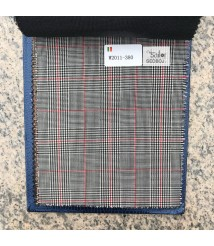 W2010-378 & W2011-378 check  wool and cashmere suit fabric
