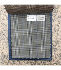 W2012-378 & W2013-378 check  wool and cashmere suit fabric