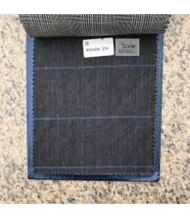 W20480-378 & W20557-378  check  wool and cashmere suit fabric