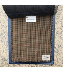 W20560-378 & W2072-378 check  wool and cashmere suit fabric