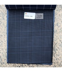 W2304-378 & W2305-378 check  wool and cashmere suit fabric