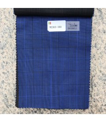 W2363-378 & W2364-378 check  wool and cashmere suit fabric