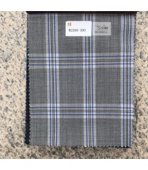 W2367-378 & W2368-378  check  wool and cashmere suit fabric