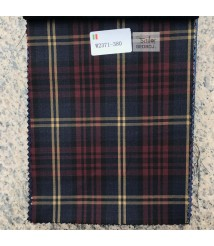 W2371-378 & W372-378 check  wool and cashmere suit fabric