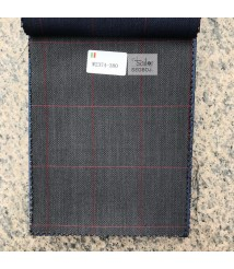 W2373-378 & W2374-378 check  wool and cashmere suit fabric