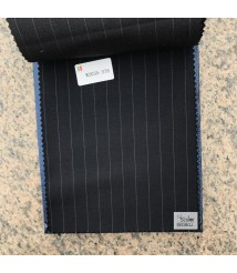 W2034-378 & W2035-378  striped wool and cashmere suit fabric