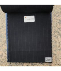W2039-378 & W2042-378   striped wool and cashmere suit fabric