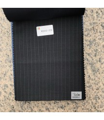 W2043-378 & W2044-378 striped wool and cashmere suit fabric