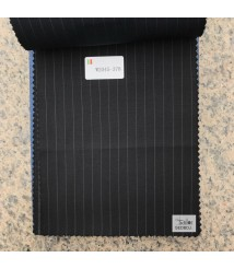 W2045-378 & W2046-378  striped wool and cashmere suit fabric