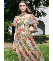 elegant embroidery lace dress