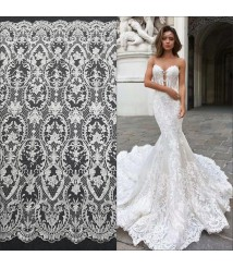 embroidery lace fabric wedding dress accessories white lace