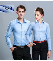 Men's long-sleeved professional slim shirt ladies embroidered LOGO formal wear sales work tooling business shirt factory direct sales