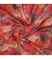 100% mulberry silk Gambiered Canton silk fabric