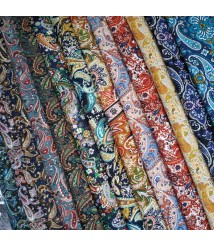 Plain polyester printed cloth, clothing lining, cashew flower fabric