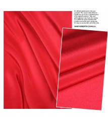 Solid color silk double crepe cheongsam dress fabric fabric tricolor cherry digital mulberry silk
