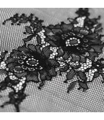Mesh fabric Versailles black and white solid color eyelash positioning lace fabric