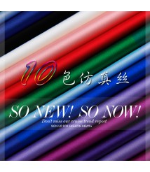 Colorful satin stretch satin lining fabric spring and summer fabric