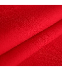 Tricolor double-sided wool crepe fabric