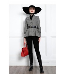 Hepburn style houndstooth jacket new product short coat women