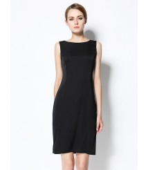 2020 new silk dress sexy little black dress female sleeveless dress
