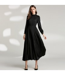2020 long skirt silk long-sleeved dress mulberry silk female skirt