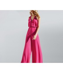 Rose red jumpsuit women's fashion 2020 new