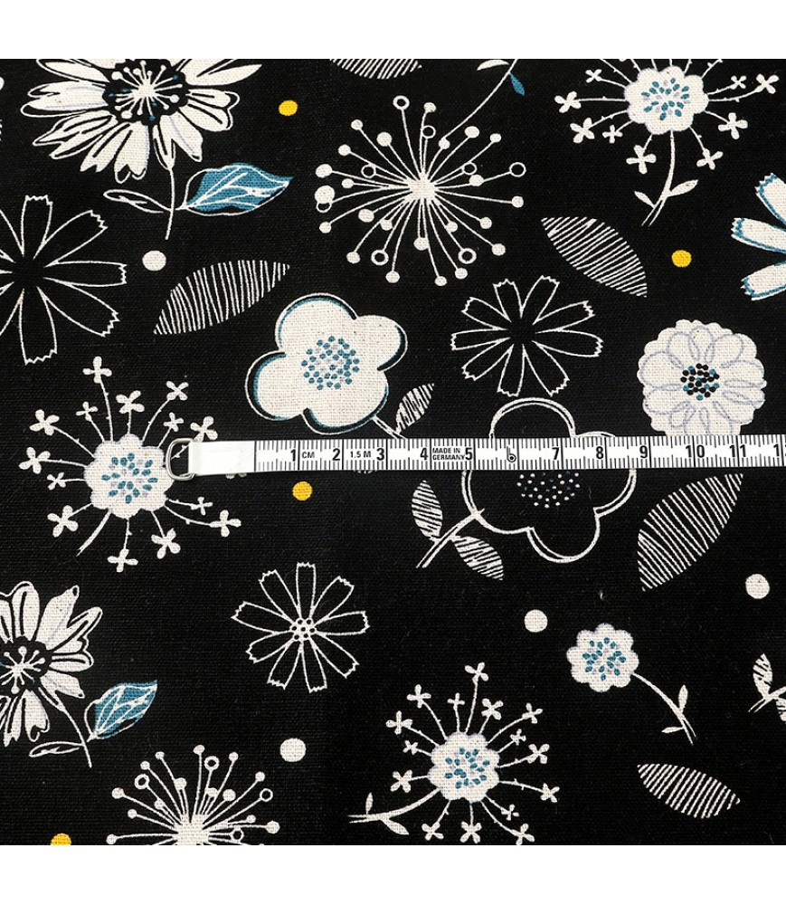 Taiwan pure cotton printed fabric, line drawing vector floral fabric, tablecloth shirt clothing handmade fabric