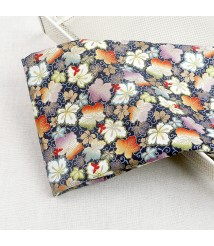 Bronzing colorful leaf Taiwan imported printed fabric Japanese style cotton fabric handmade cloth diy fabric
