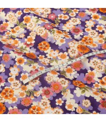 Blossoming cherry blossoms, cotton and linen, Taiwan imported calico, Japanese style floral handmade cloth puppets, apparel fabrics
