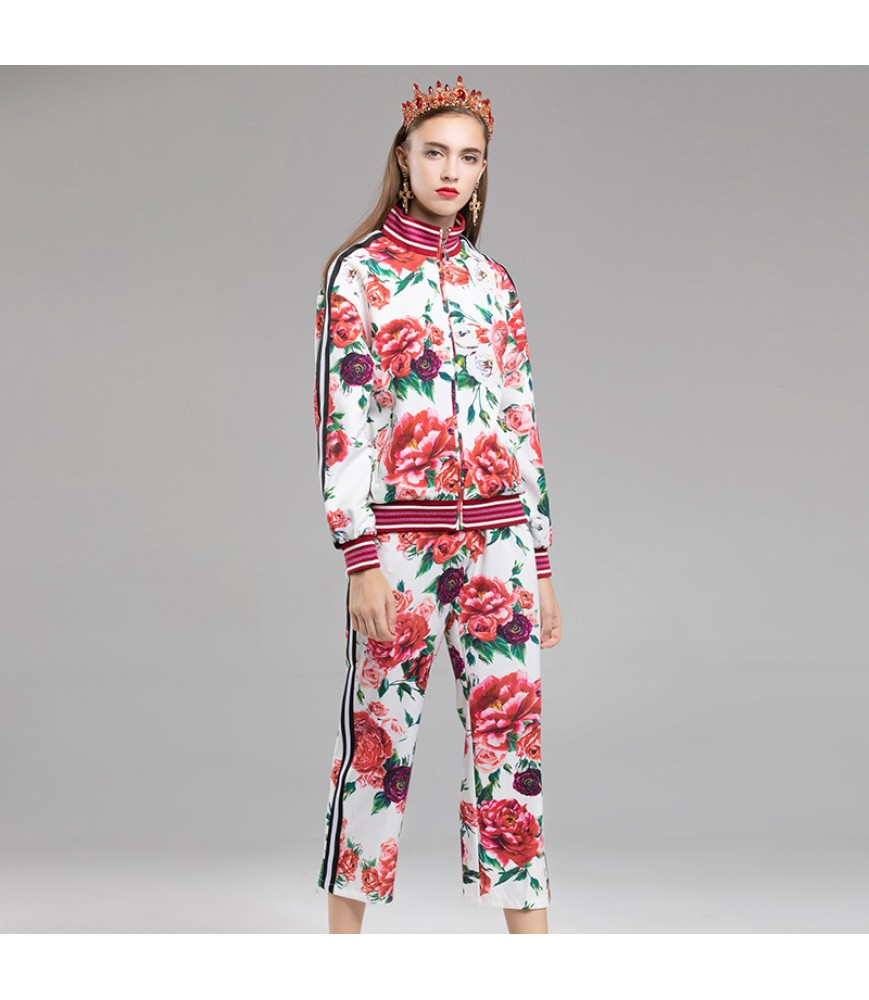 2018 western style suit, female hip hop style, BF, cool and handsome, two-piece suit trousers, female dress and one hair substitute