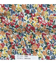 Red floral Printed pattern casual shirt fabric