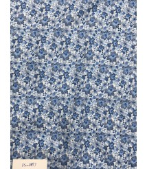 blue floral Printed pattern casual shirt fabric