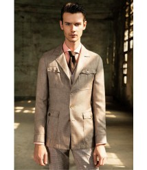 custom made men 4 pocket casual suit wool and cashmere fabric style-z03