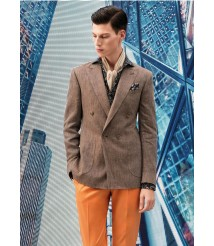 custom made brown suit wool and cashmere fabric style-z05