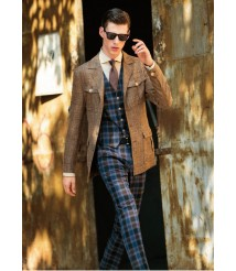 custom made men  Casual suit wool and cashmere fabric style-z45
