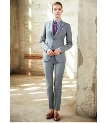 custom made women Gray business suit wool and cashmere fabric style-05