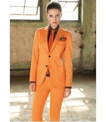 custom made women Orange suit  wool and cashmere fabric style-08