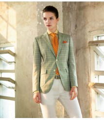 custom made women Light green suit wool and cashmere fabric style-17